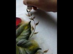 . folhinhas secas pintura em tecido - YouTube