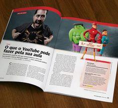 Ilustras para a revista Nova Escola - edição ago/2016 - sobre Youtubers cientistas. . . . #magazine #illustration #ilustra #novaescola #revista #article #youtube #youtubers #science #scientist #physics #heros #superheros #hulk #theflash #superman