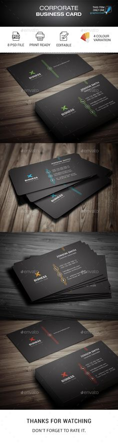 Simple Corporate Business Card - Corporate Business Cards