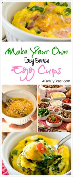 Easy Brunch Egg Cups - Make a delicious breakfast in just minutes!  Plus ideas for a Make-Your-Own Brunch Bar made with Target Grocery Essentials. #TargetCrowd #ad @Target