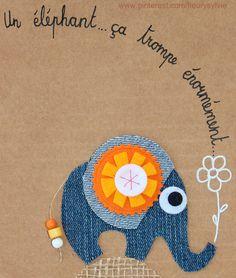 Un éléphant, ça trombe énormément...jeans recycle