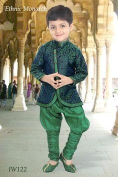 Bluish Green Indo Western - Indo-Westerns - Designers