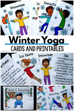 Art therapy activities for kids Winter yoga activi - artactivities Gross Motor Activities, Movement Activities, Art Therapy Activities, Sensory Activities, Physical Activities, Wellness Activities, Mindfulness Activities, Preschool Yoga, Preschool Crafts