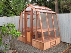 "8ft wide, 5ft deep solite greenhouse set on an 18"" base"