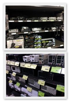 19) The range of electronic products Fry's has is extremely diverse, from a truck driver needing a new CB radio, to the electronics engineer who is in the market for a Teledyne LeCroy oscilloscope. In many cases the products sell themselves and Fry's provides the local retail shelf space for the consumer to head to.