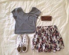 skirt flowery skirt blouse t-shirt shoes lovley pink skirt floral skirt short skirt