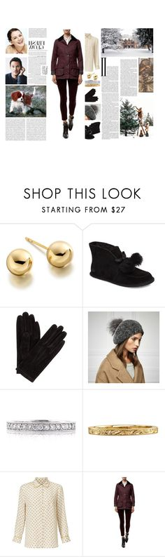 """""""Untitled #3145"""" by duchessq ❤ liked on Polyvore featuring Astley Clarke, UGG, John Lewis, Mark Broumand, Weekend Max Mara, Barbour International and Oris"""