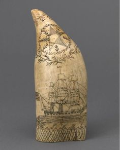 Mid 19th century scrimshaw whale tooth