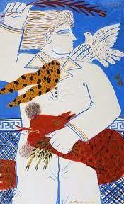 Greece~~~Alecos Fassianos (Greek, b. Greek Paintings, Greek Design, Powerful Art, Greek Art, 10 Picture, Postmodernism, Urban Art, Cool Artwork, Contemporary Art