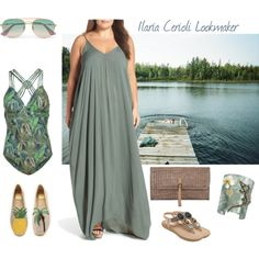 from the water to the sunset by ilaria-lookmaker on Polyvore featuring moda, ELAN, Fat Face, Tory Burch, Heidi Klein, Misis, Gucci and plus size dresses