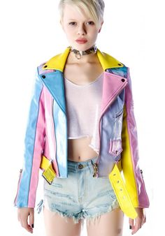 Pastel Moto Jacket, pretty sure this is the one Hayley Williams is wearing in Paramore's Still Into You video. beautiful.
