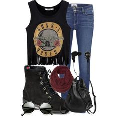 Fashionworld996 put together this rocker chic look and now it's our featured #PolyvoreOOTD! Show her some love here: http://www.polyvore.com/untitled_51/set?id=136897198  Share your outfit ideas on Instagram with #PolyvoreOOTD for a chance to be featured next Friday.