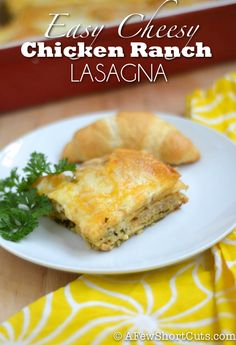 Try something new or dinner! Easy Cheesy Chicken Ranch Lasagna #Recipe
