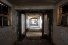 Linda Vista Hospital- you can see why directors like to film here, that's a really creepy corridor!