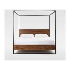 Rogan Canopy Bed ($1,799) ❤ liked on Polyvore featuring home, furniture and beds