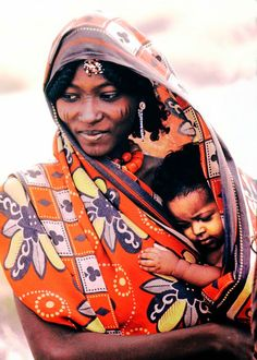 Danakil mother and child . Ethiopia