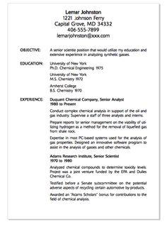 example of senior scientist resume httpexampleresumecvorgexample - Sample Resume Letter