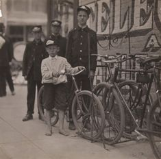 Western Union bike messengers in Danville, Virginia, ca. 1911.