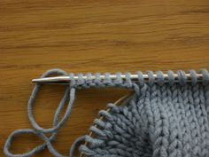 Fiona's Knitting: How to work the Buttonhole Cast On