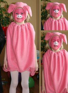 Cute piglet :D Happy Halloween, Halloween Costumes, Costumes Kids, Cute Piglets, Creative Costumes, Three Little Pigs, Animal Costumes, Just For Fun, Harajuku