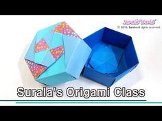 Origami -  Hexagon Box (Gift Box) - YouTube