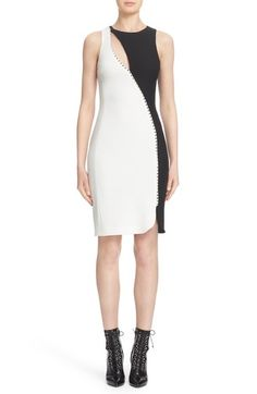 Versace Collection Cutout Colorblock Cady Dress available at #Nordstrom