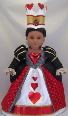American Girl Doll sized Queen of Hearts costume