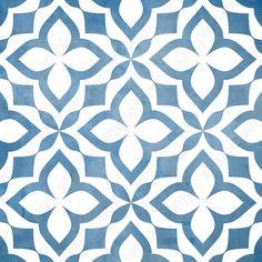 Digital tiles, Blue and white ornate wall decor, printable geometric wall art, tile pattern prints square each, DIY geo home decor