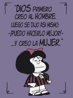 Mafalda frases feminista. Camiseta regalo ideal. Funny Quotes, Funny Memes, Jokes, Mafalda Quotes, Pinterest Memes, Cute Couple Quotes, Little Bit, Love Messages, Spanish Quotes