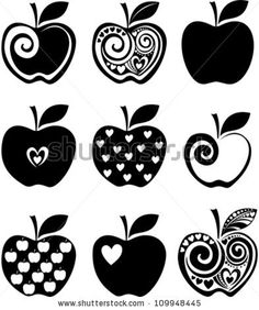 Set Of Apple Icon Isolated On White Background. Vector Illustration - 109948445 : Shutterstock