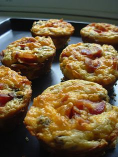 Low Carb Bacon, Egg, Cheese & Mushroom Muffins also includes recipe for low carb baking mix(easiest recipe yet and no almonds in the mix).