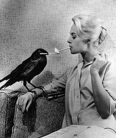 Alfred Hitchcock, Tippi Hedren. This doesn't really fit anywhere on our boards, but I just couldn't resist !