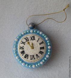 Купить Часы - Новый Год, новогодний подарок, новогоднее украшение, новогодние игрушки, елочные игрушки