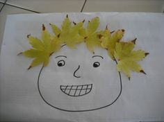 Pictures - Leaf people preschool activity