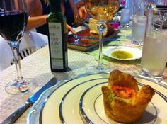 Table set with Chilean EVOO at Katy Lynch's Chile Olive Oil Tasting Party