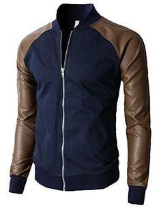 H2H Mens Slim Fit Varsity Baseball Bomber Jacket of Various Styles Moda  Masculina d76ed5dc8b4