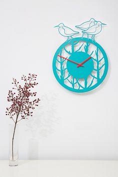 max cairns, redshank and samphire laser cut wall clock