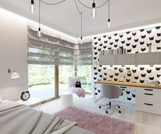 Pokoje dziecięce i młodzieżowe - Living Box Home Study Rooms, Cute Bedroom Ideas, Minimalist Room, Toddler Rooms, Big Girl Rooms, Home Trends, Aesthetic Rooms, Dream Rooms, Luxurious Bedrooms