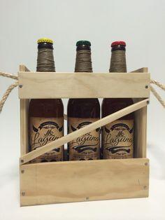 Caja Castua,  Mr. Laguna. 3 Cervezas E.E. En botella de 50 cl. de estilos: Winter Beer, Trigo ahumada y Cream Ale.