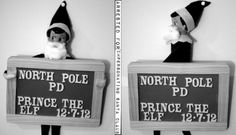 Elf under arrest for impersonating Santa Claus | 15 Fun Elf on the Shelf Ideas