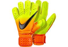 Bright Citrus colorway, Nike Premier SGT Goalkeeper Gloves. Grab a pair from www.soccerpro.com
