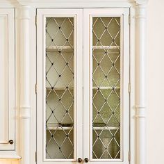Cute Leaded Glass Cabinet Doors Minimalist