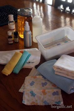 homemade diaper wipe