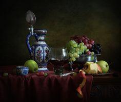 С яблоками и виноградом