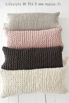 nice #knitted pillows