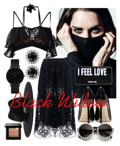 """Black Widow"" by alexandrazamfir ❤ liked on Polyvore featuring For Love & Lemons, Jimmy Choo, Givenchy, CLUSE, Brixton and Bobbi Brown Cosmetics"