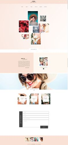 by Foil and Ink. Photography Website Design for the bright and bold creative - Showit Store