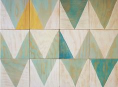 Love these painted wood chevron
