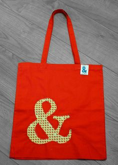 Check out this item in my Etsy shop https://www.etsy.com/listing/228863116/red-cotton-bag-with-appliqued-ampersand