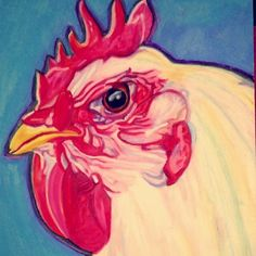 #art #drawing #oilpastel #chicken